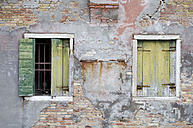Italy, Venice, Window shutters in an old building - AWDF00041