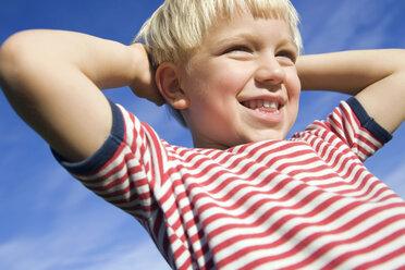 Little boy (4-5), smiling, portrait - SMO00272