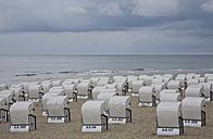Germany, Mecklenburg-Vorpommern, Baltic Sea, Rügen, Wicker beach chairs - WDF00244