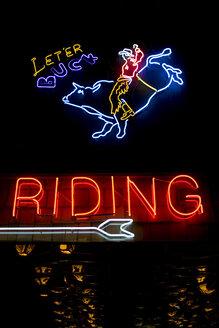 USA, Texas, Dallas, Illuminated Neon sign - PK00262