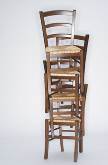Stack of chairs, close-up - KSWF00199