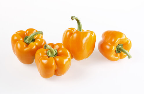 Orange peppers, elevated view - KSWF00233