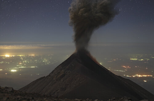 Guatemala, Fuego volcano, Ash eruption - RM00311