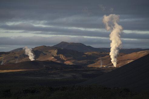 Iceland, Krafla, Geothermal power plant - RM00299