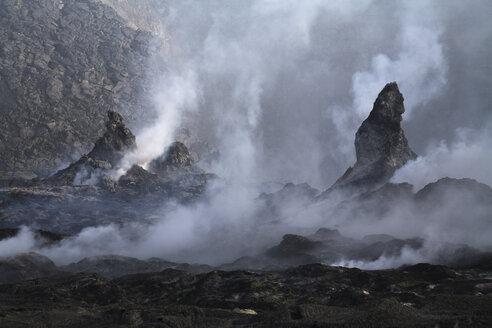 Ethiopia, Danakli desert, Erta Ale volcano, eruption - RM00223