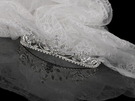 Wedding Tiara with veil - AKF00058