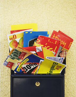 Mailbox stuffed with promotion material - WWF00453