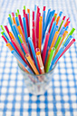 Multi coloured straws, elevated view - JRF00090
