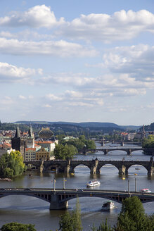 Czech Republic, Prague, Vitava river and bridges - PSF00046