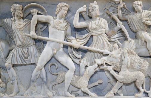 Italy, Rome, Vatican City, Palazzo dei Conservatori, Marble relief, close up - PS00137