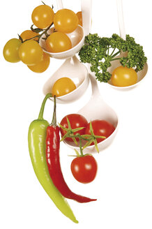 Various vegetables in ladles - 00487LR-U