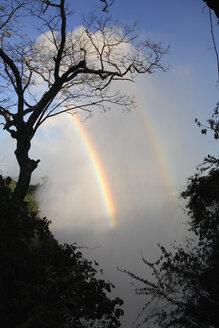 Africa, Zimbabwe, Victoria falls and rainbow - PK00346