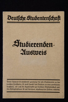 Germany, Old Student passport, close-up - AWD00379