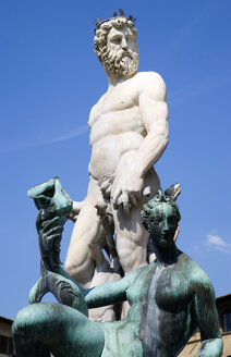 Italy, Tuscany, Florence, Statue of Neptune - PSF00284