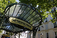 France, Paris, Montmartre, Metro entrance, close up - PSF00170