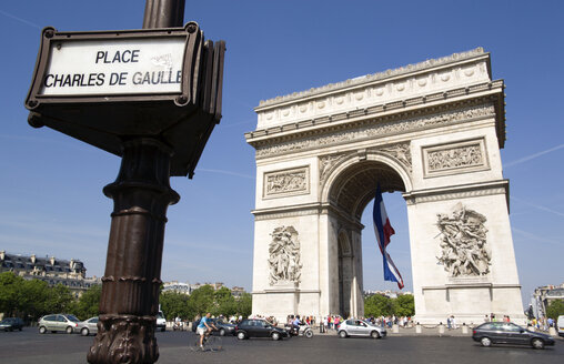 France, Paris, Arc de Triomphe, Place Charles De Gaulle - PSF00161
