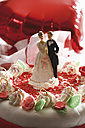 Wedding cake topper with bride and groom - 11172CS-U