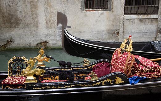 Italy, Venice, Gondola, sea horse decoration - PSF00344