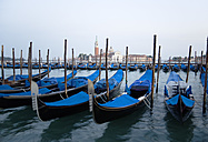 Italy, Venice, Gondola, San Giorgio Maggiore in background - PSF00338