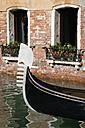 Italy, Venice, Gondola, Bow decoration - PSF00335