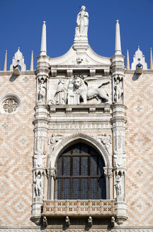 Italy, Venice, Doge's Palace,Carving, Winged Lion - PSF00326