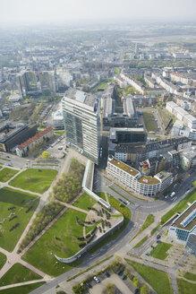 Germany, North-Rhine-Westphalia, Duesseldorf, View over Duesseldorf, elevated view - UK00178