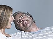 Couple laughing, portrait - WEST12308