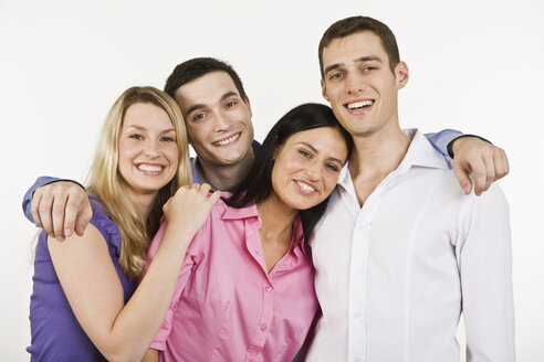 Group of people embracing, smiling, portrait - LDF00742