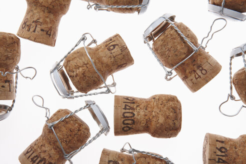 Champagne corks, elevated view - THF01068