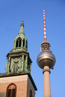 Germany, Berlin,  St.Mary´s Church with TV tower - PSF00400