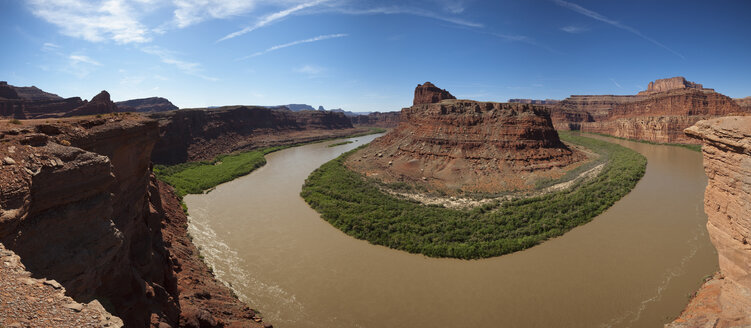 USA, Utah, Colorado River, rock formation, elevated view - FOF01739
