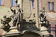 Germany, Bavaria, Franconia , Würzburg, Fountain in front of old townhall, lclose-up - WDF00585
