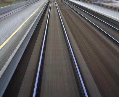 Austria, Blurred Railroad Tracks - WVF00005
