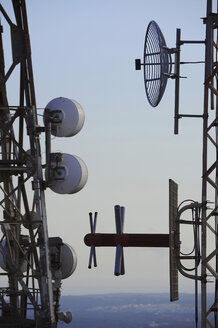 Radio tower against sky, close up. - GNF01176