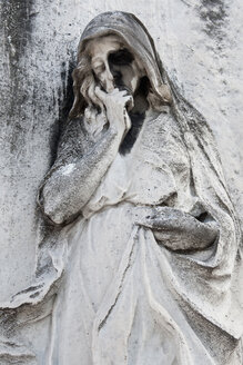 Italy, Venice, Graveyard, Statue, close-up - AWD00483