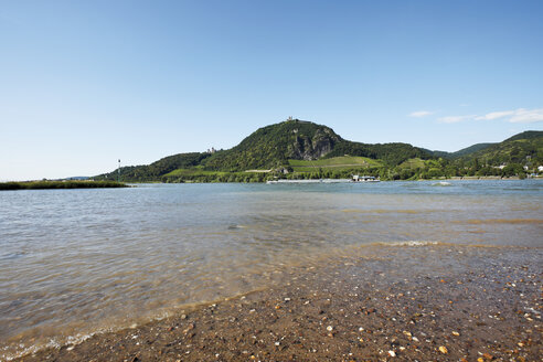 View of river rhine with mountain in background. - 12136CS-U
