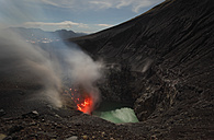 Indonesia, Sulawesi, Lokon volcano erupting - RMF00414