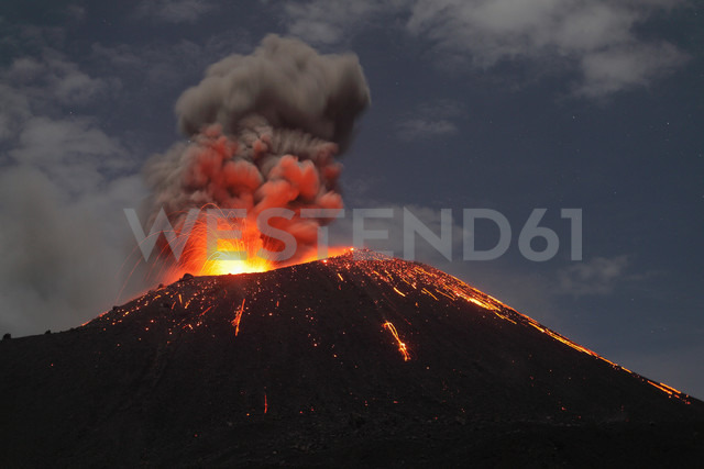 Indonesia, Sumatra, Krakatoa volcano erupting - RMF00405