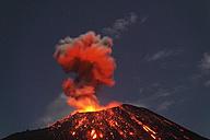 Indonesia, Sumatra, Krakatoa volcano erupting - RMF00402