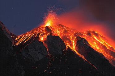 Italy, Sicily, Lava flow from stromboli volcano - RMF00369