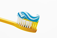 Close up of toothbrush and toothpaste - 12306CS-U