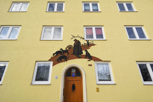Germany, Munich, Facade of building with painting - MB00960