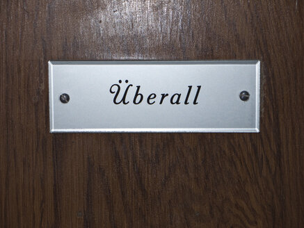 Close up of nameplate on entry door - LFF000178