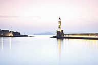 Greece, Crete, Chania, View of harbor at dusk - MSF002403