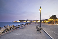 Greece, Crete, Paleochora, View of harbor and city at dusk - MSF002391