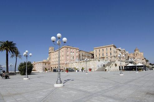 Italy, Sardinia, Cagliari, View of Bastione di San Remy - LRF000526