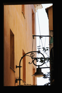 Italy, Sardinia, Cagliari, View of building and street lantern - LRF000531