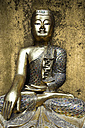 Hamburg, Golden buddha statue, close up - TLF000531