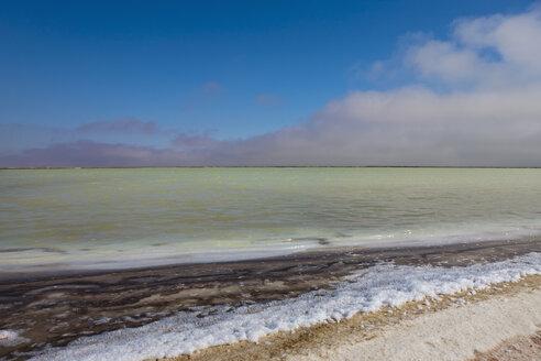 Africa, Namibia, Namib Desert, Atlantic Ocean, View of saline at walvis bay - FOF002416
