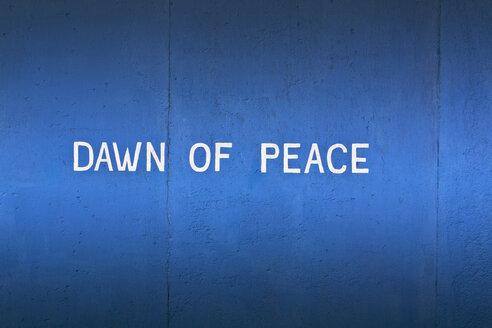 Germany, Berlin, Text on berlin wall - WVF000054